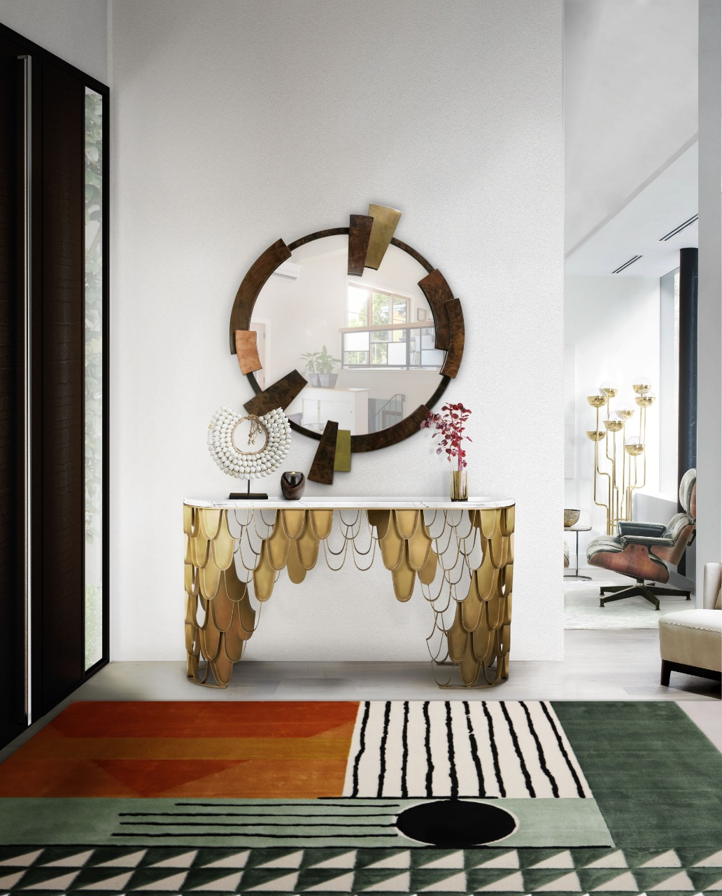 Earthly and luxurious hall by Rug'Society