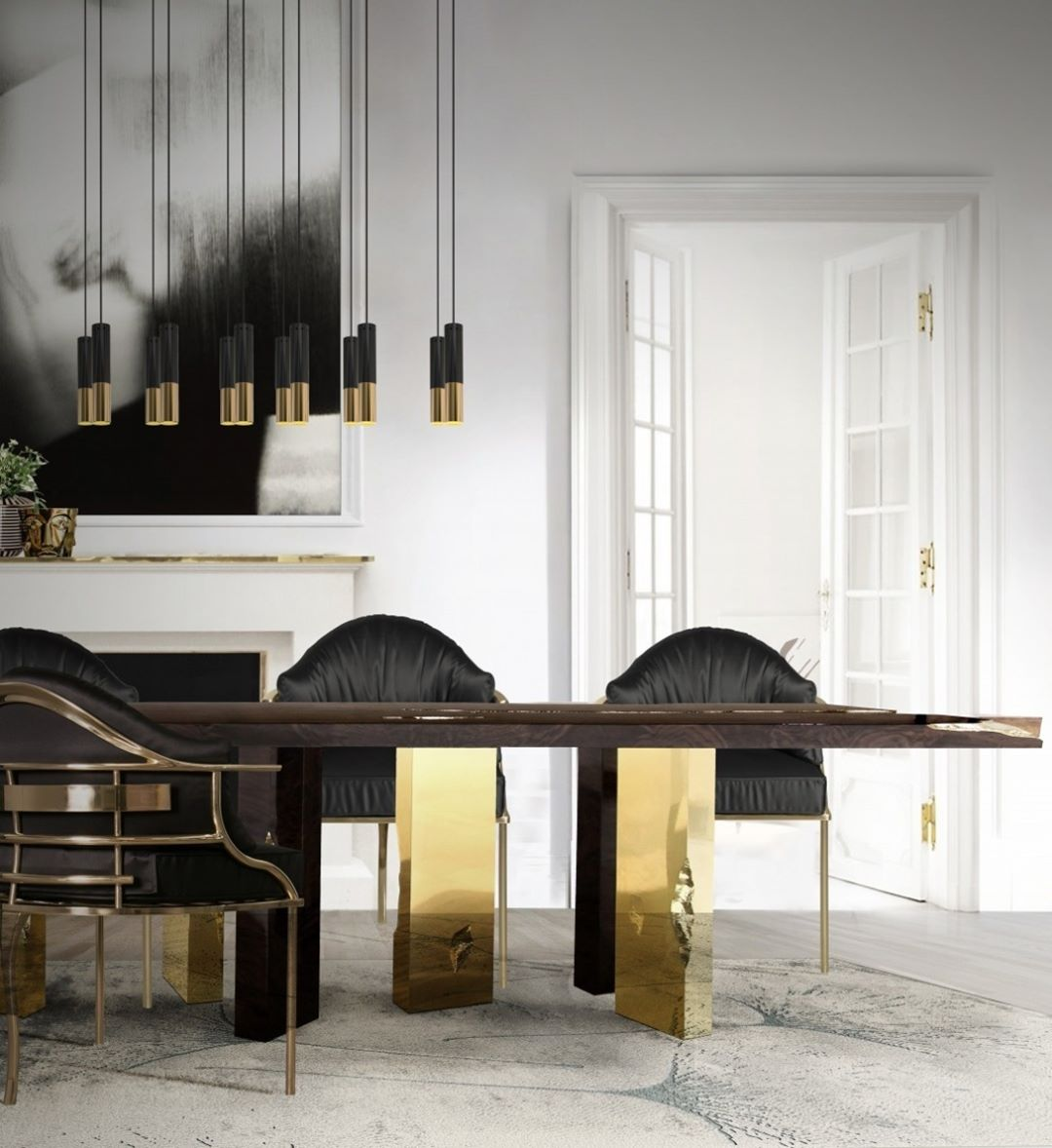 Dining room featuring the Ike Pendant from DelightFULL